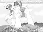 1girl alicorn artist:dendollae giantess monochrome my_little_pony scat twilight_sparkle  rating:Explicit score:0 user:unsung_soldier